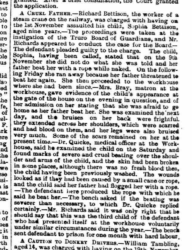 Royal Cornwall Gazette - Friday 02 December 1887